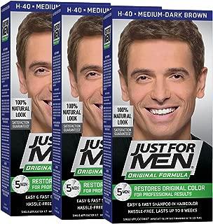 Just For Men Original Formula Men's Hair Color, Medium-Dark Brown (Pack of 3)