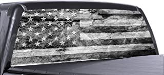 truck rear window graphics military