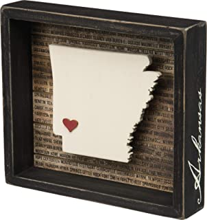 Primitives by Kathy 28227 State Pride Box Sign, Arkansas