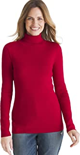 Chico's Women's Coolmax Pullover Turtleneck Sweater with Moisture Wick Technology