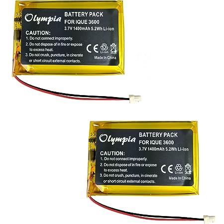 Batteria compatibile con Garmin iQue 3600a Li-Po 2000mAh // 7,4Wh 3,7V black