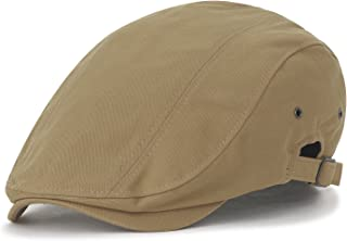 e1bd2d844e3 ililily Cotton Solid Color Adjustable Gatsby Newsboy Hat Cabbie Hunting Flat  Cap