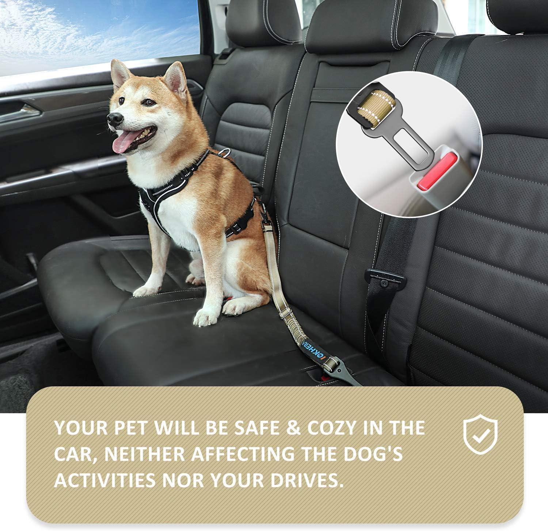 3-in-1 Hundegurt Sicherheitsgeschirr Einstellbarer mit Universalstecker /& Befestigung der Verriegelungsstange,Hunde sicherheitsgurt f/ür alle Hunderassen /& Auto Iokheira Hunde Sicherheitsgurt