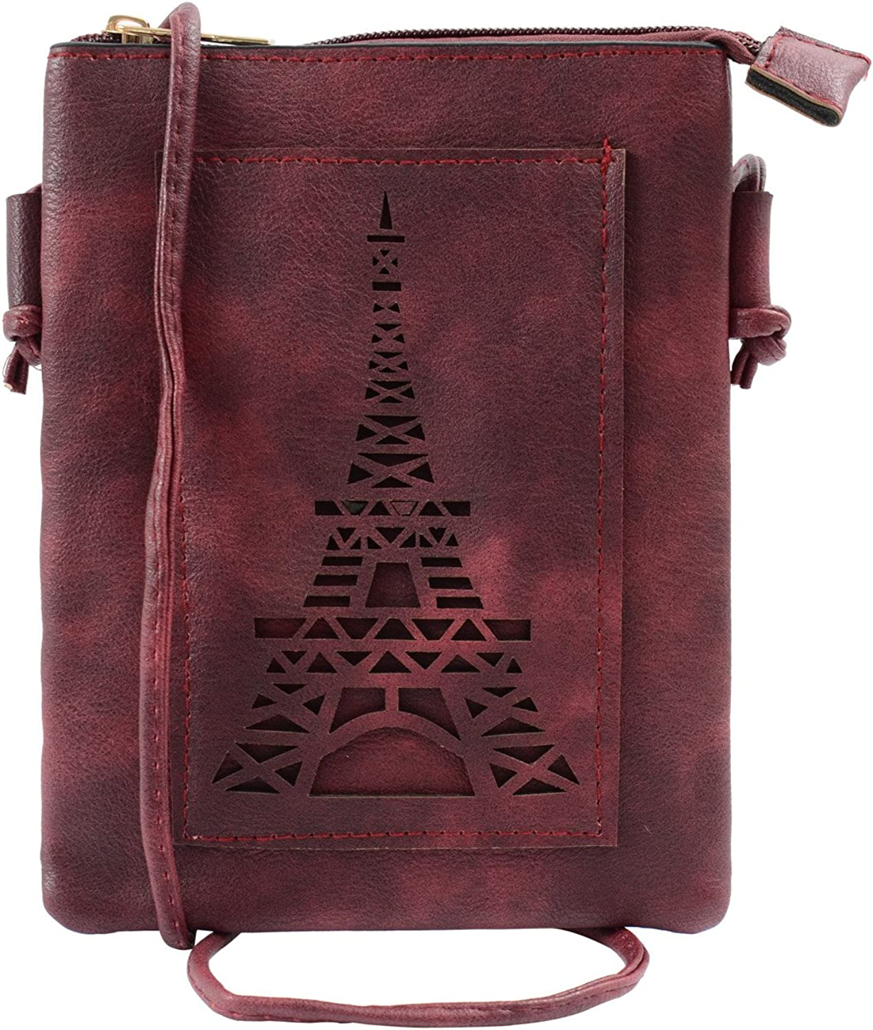 Pulama Cellphone crossbody Hollow Eiffel Tower Unique Pouch