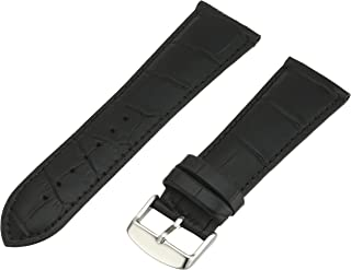 Hadley-Roma Men`s MSM898RA-180 18-mm Black Alligator Grain Leather Watch Strap