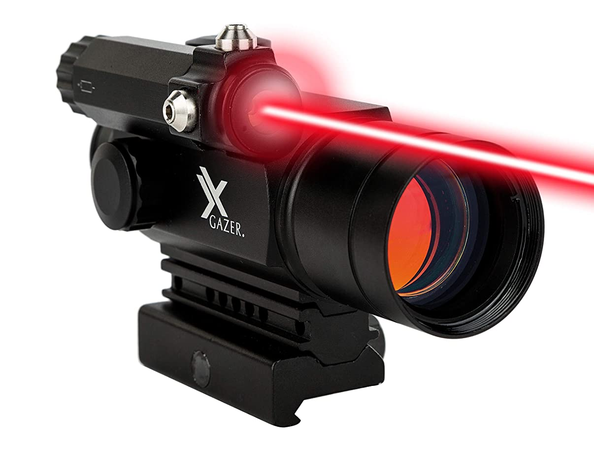 Xgazer Optics Point View Red Dot Sight with Laser – 2 MOA Dot Laser Sight – Fully Multy-Coated Lens – Shockproof, Fog Proof, and Waterproof
