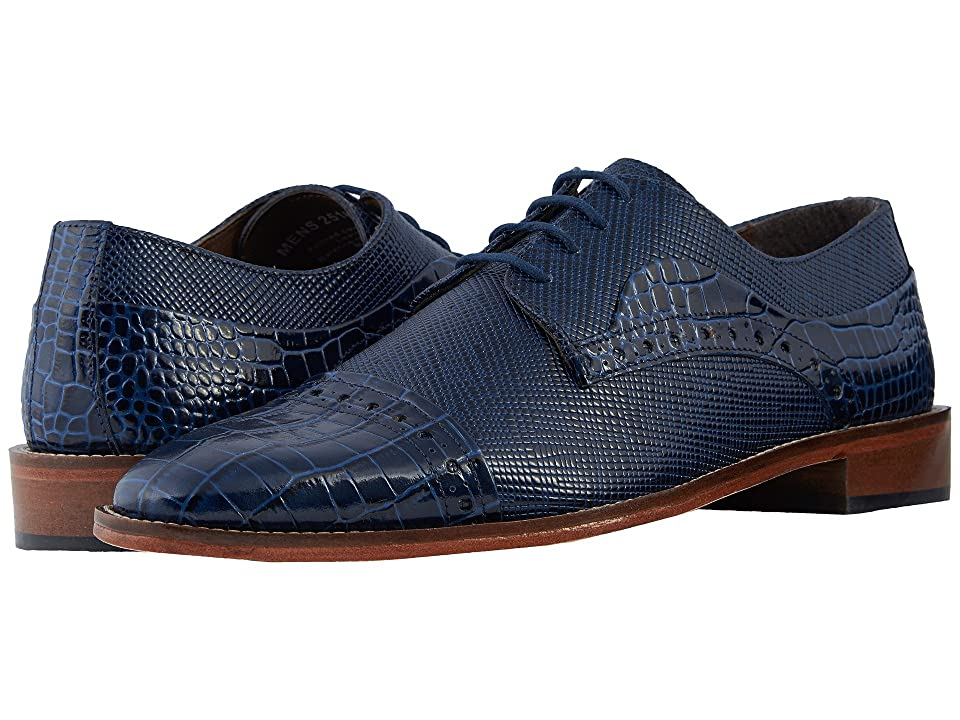 Stacy Adams Rodrigo Cap Toe Oxford (Dark Blue) Men