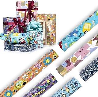 Diealles Shine Papier Cadeau, 6PCS 70x50CM Papier d'emballage Cadeau pour Présent Cadeau de Noël Anniversaire