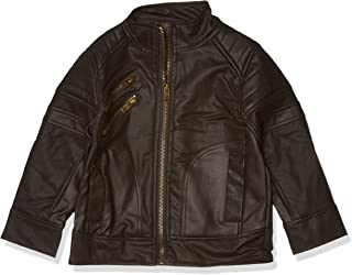 Urban Republic Toddler Boys Textured Faux Leather Jacket, Darkbrown, 3T