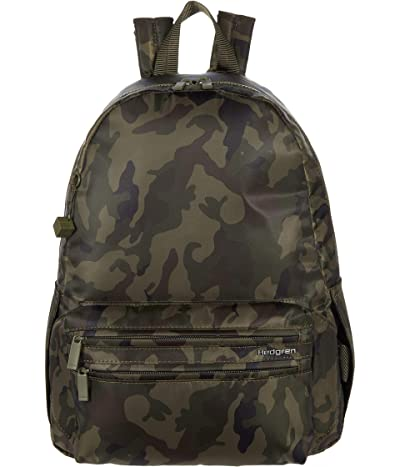 Hedgren Earth Eco Backpack w/ Detachable Waist Bag (Olive Camo) Backpack Bags