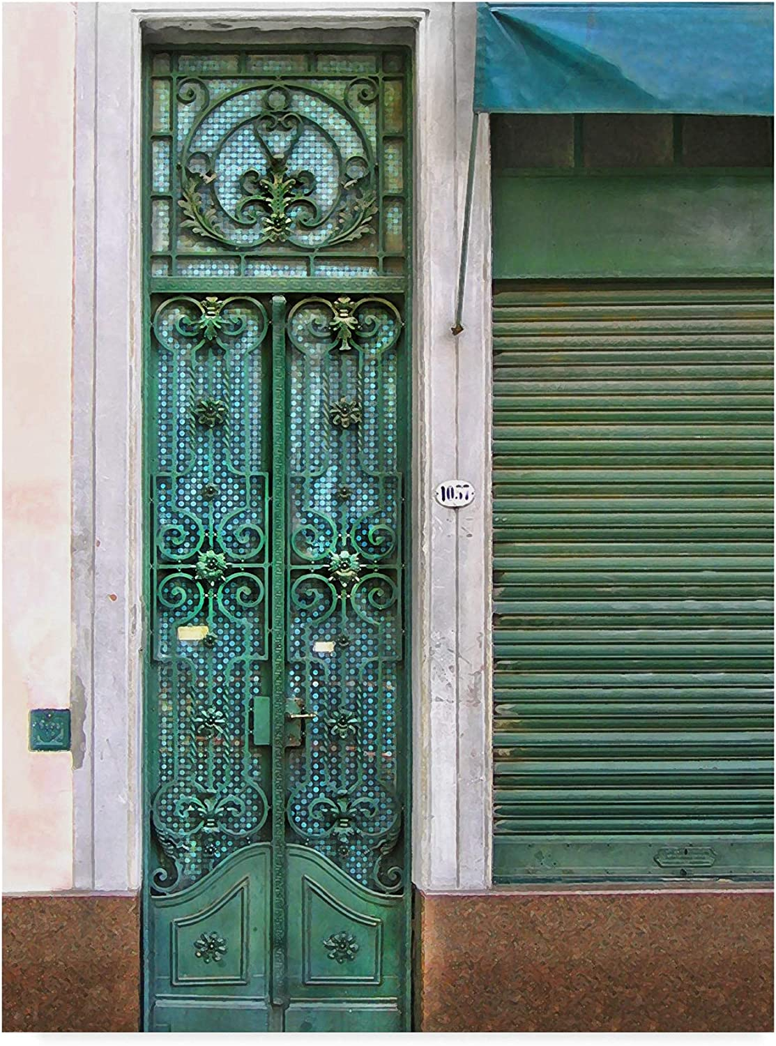 Trademark Fine Art Doors Abroad I by Golie Miamee, 14x19