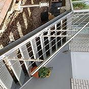 SAILUN/® Edelstahl Handlauf Gel/änder mit 2 Pfosten f/ür Br/üstung Treppen Balkon 160 cm, 5 Querstreben