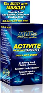 MHP Activite Sport Multi Vitamin, 25 Vitamins and Minerals, Nitric Oxide Booster, Digestive Enzymes, Antioxidants, 120 Tab...