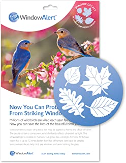 Leaf Medley Window Decal Envelope-Save Wild Birds!