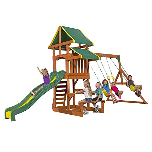Outdoor Wooden Playsets Amazon Com