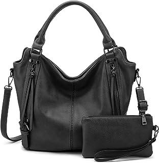 Realer Damen Handtaschen Mittel Shopper Lederhandtasche Schultertasche Umhängetasche Geldbörse Hobo Damen Taschen Set für ...
