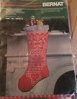 Bernat Peppermint Chicken Scratch Stocking Embroidery Kit W04012