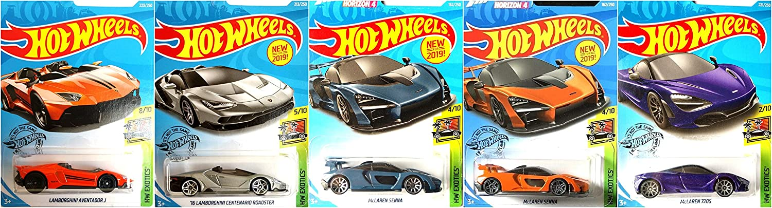 Tampa Mall Hot Wheels Lamborghini and McLaren 5 Set McL Car Includes Now free shipping Bundle