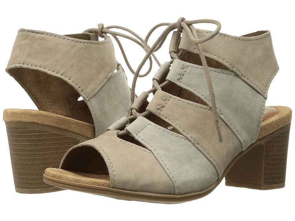 Rockport Cobb Hill Collection Cobb Hill Hattie Lace-Up Sandal (Khaki Multi Nubuck) Women's Sandals