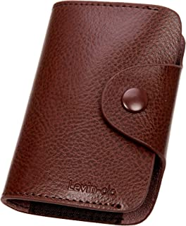 Levin Clo Card holder wallet with 12 Credit card slots and two side pockets for coins/Bank Notes.