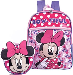 Minnie Mouse Backpack Combo Set - Disney Minnie Mouse 2 Piece Backpack School Set (Pink)