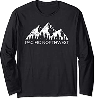 Pacific Northwest Long Sleeve Shirt | Cool PNW Mountain Tee