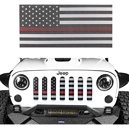 V8 GOD American Flag Jeep Grille Mesh Grill Insert Old Glory W//Red Stripe for Jeep Wrangler JK 2007-2018 Unlimited