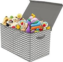 Sorbus Caja de juguetes con tapa abatible, almacenamiento