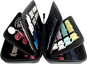 Zero Mass Smart Watch Bands Travel Case/Wallet, Organizer/Holder for 40+ Apple Watch Bands, Watch, Phone, Chargers (Black)