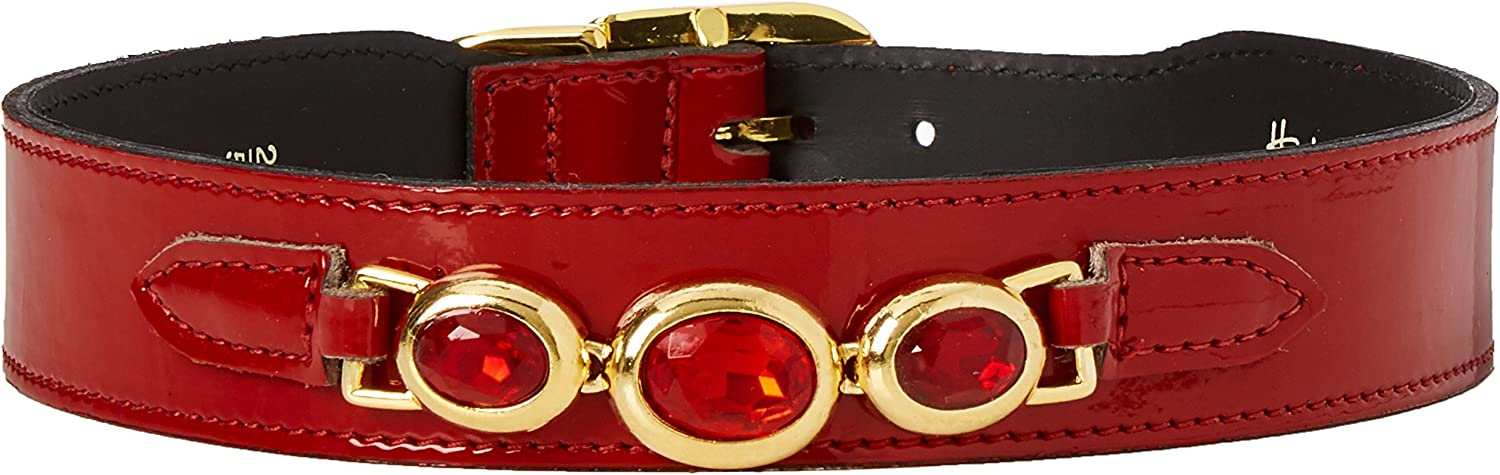 Hartman & pink Regency Collection Dog Collar, Red Patent, 2022Inch