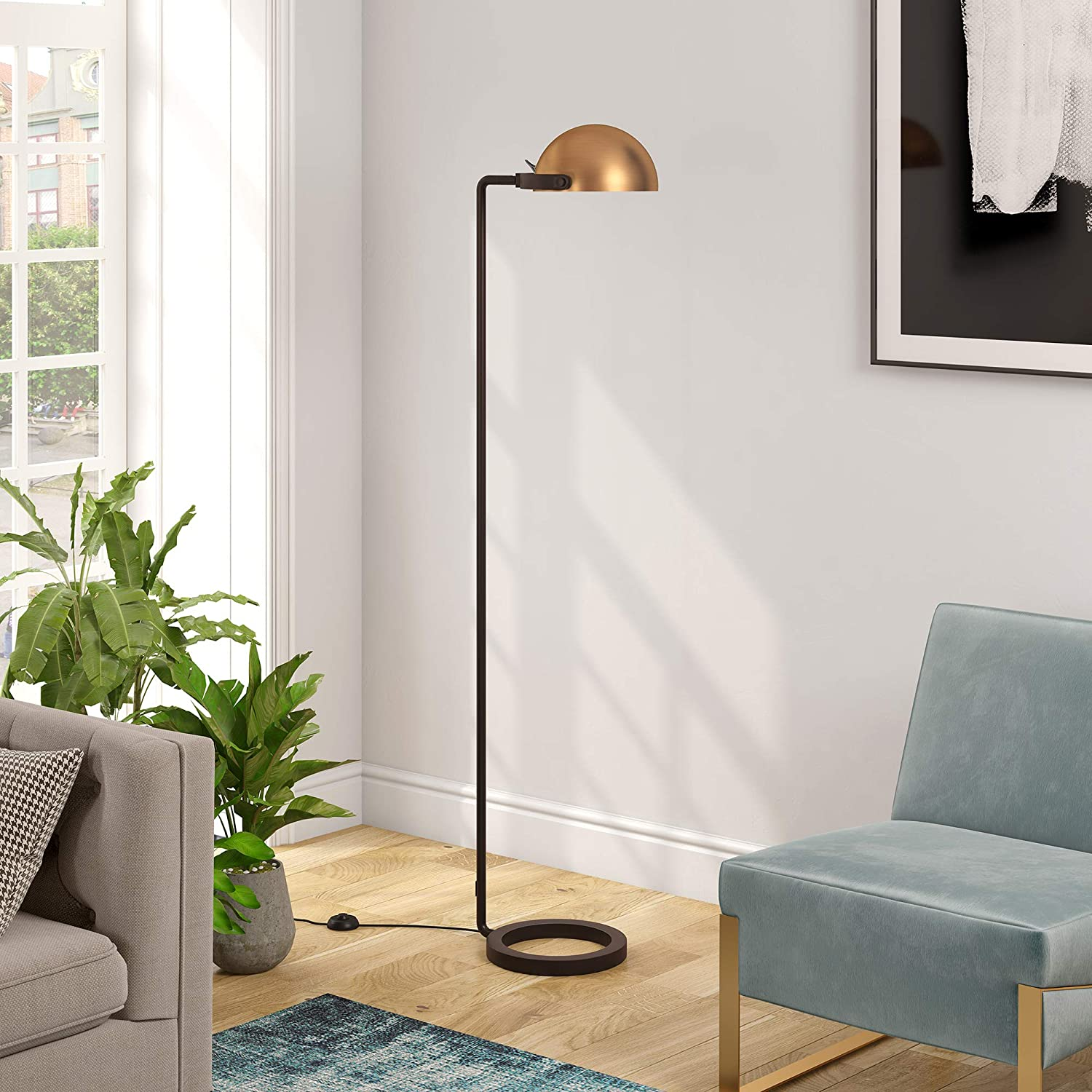 HennHart Modern Industrial Austin Mall Floor Lamp Contemporary in Challenge the lowest price of Japan ☆ Blackened