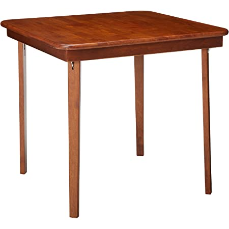 """STAKMORE Straight Edge 32"""" Square Folding Card Table, Cherry Finish"""