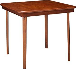 MECO 0056.00791 STAKMORE Straight Edge Folding Card Table Cherry Finish