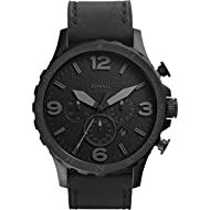 Men's Nate Quartz Stainless Steel and Leather Casual Watch