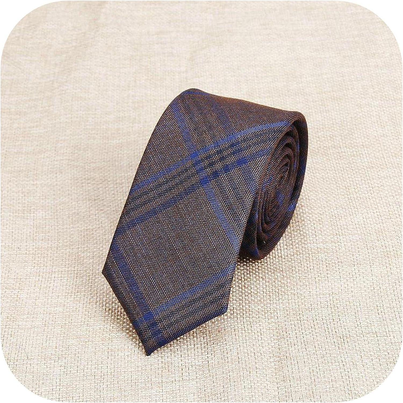 Fashion Men's Colourful Tie Cotton Formal Shirts Solid Ties Necktie Narrow Slim Skinny Cravate Casual Neckties Man Plaid