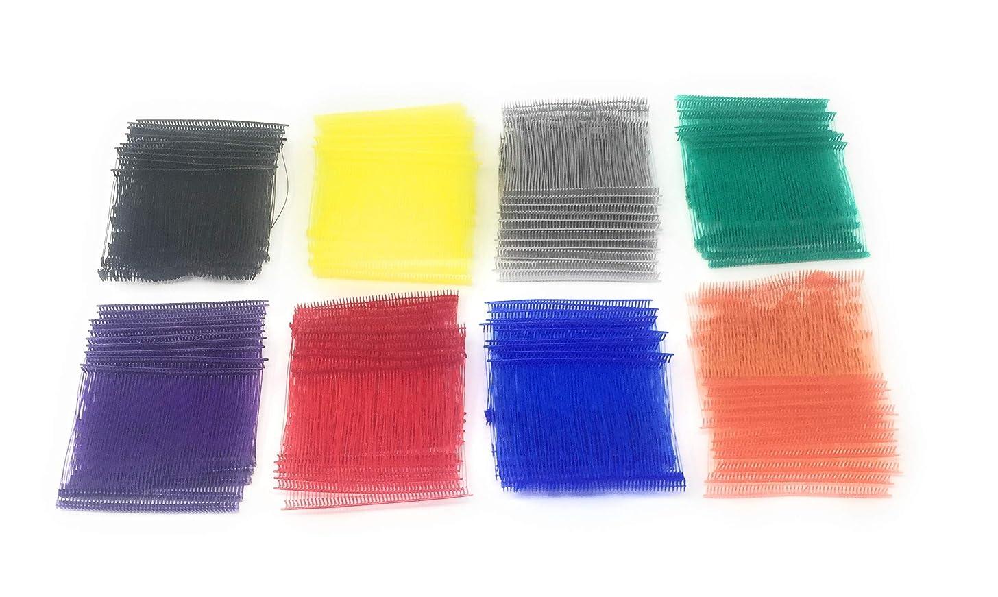 Standard Tagging Gun Barbs Fasteners 3 Inch 500 each of Black Red Blue Green Orange Purple Grey Yellow 4000 Total Barbs