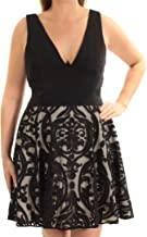 Xscape Women's Short Flocked Party Skirt W/Ity Top