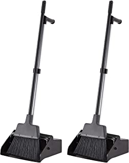 AmazonCommercial Lobby Dustpan with Broom set - 2-Pack