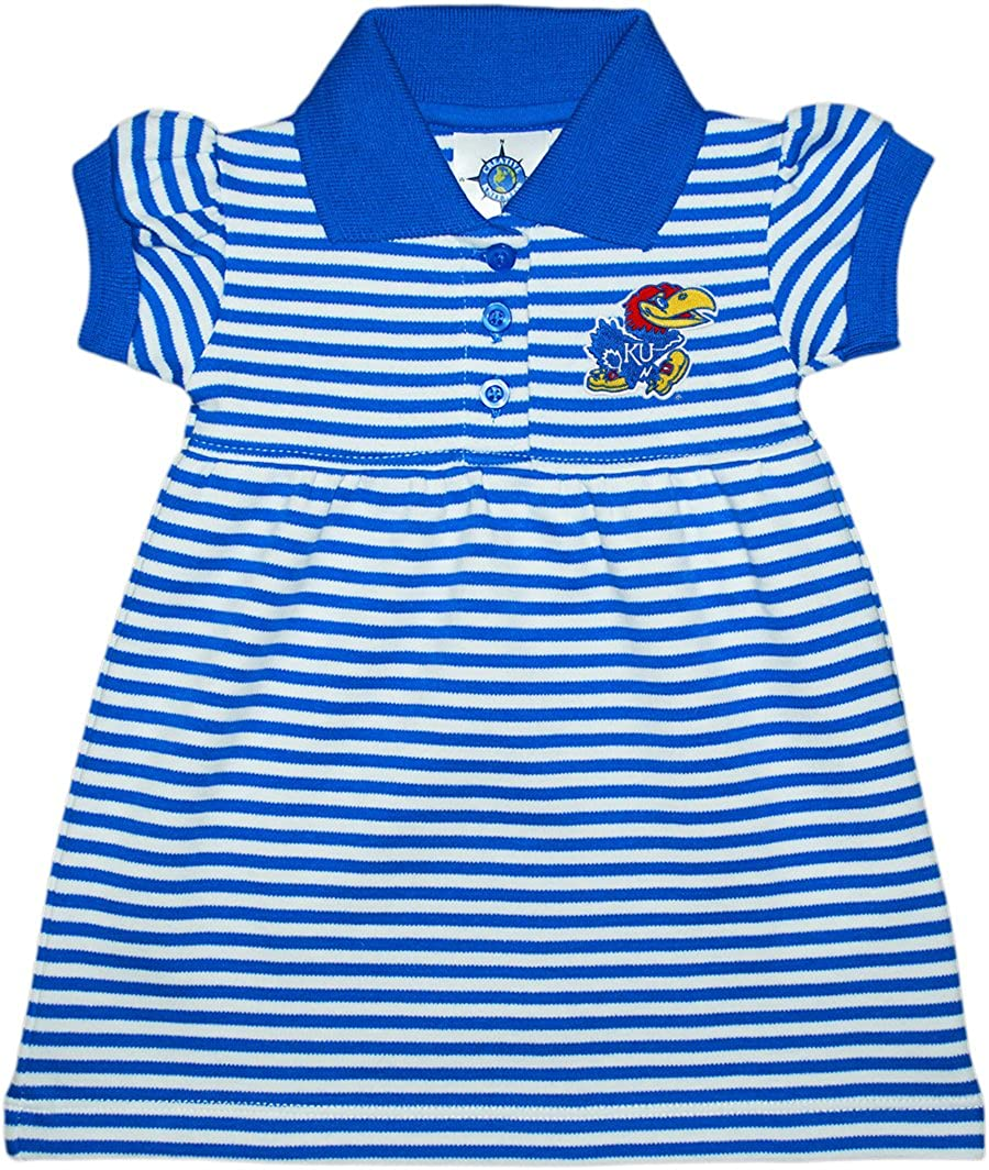 University of Kansas Jayhawks Striped Day Dress Bloome Japan Maker New Game with Fort Worth Mall