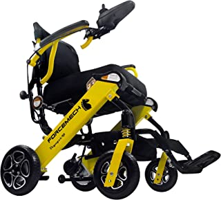Forcemech Voyager R2- Ultra Portable Folding Power Wheelchair - Weights Only 43 lbs - Airplane Travel Approved (Voyager R2)