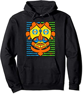 Clay Lost Tribe Warrior Mask Unisex Pullover Hoodie
