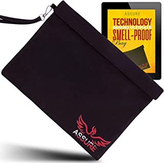 Smell Proof Bag 12X9Black XL with Double Velcro Seal Blocks Scent Stink Odor - Carbon Lined Premium Quality Best Smell Proof Container Pouch Case for Herb & Smelly Accessories- Dog Tested