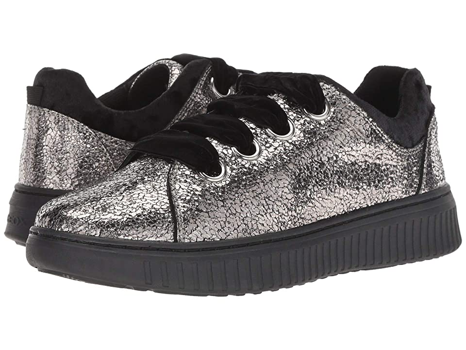 Geox Kids Disco Mix Girl 4 (Big Kid) (Dark Silver) Girl