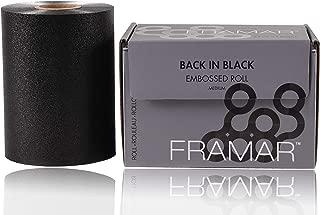 Framar Back in Black Embossed Roll Aluminum Foil, Hair Foils For Highlighting - Medium 320 ft