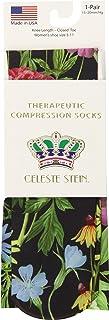 Celeste Stein Therapeutic Compression Socks, Black Marisa, 15-20 Mmhg, Moderate