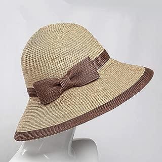 ZiJieShiYe Femmes Hommes Laine Western Chapeau De Cowboy Large Bord Cowgirl Cap Chapeau Charms De Fleurs Bande De Cuir Taille 56-58CM