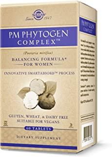 Solgar PM PhytoGen Complex, 60 Tablets - Pueraria Mirifica - Balancing Formula for Women, Energy Metabolism, Nervous Syste...