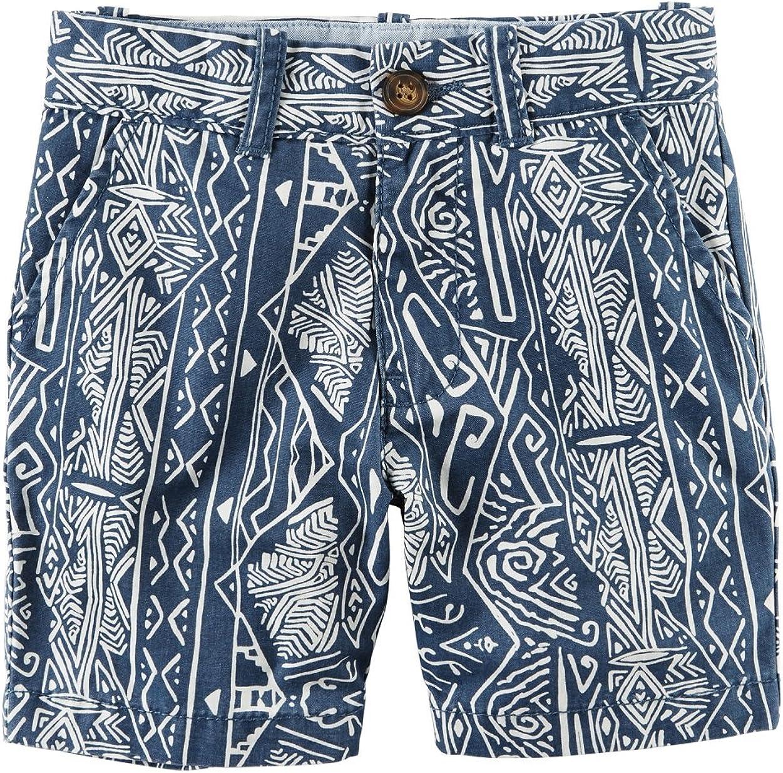 Carter's Boy's Blue supreme Print Super sale Button Front 3M Shorts