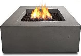 Real Flame T9620NG-GLG Baltic Square Natural Gas Table, Glacier Gray
