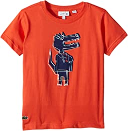 Lacoste Kids Short Sleeve Jersey Crocoline Print T-Shirt (Toddler/Little Kids/Big Kids)